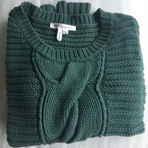 Green BCBG Crop Sweater Size Small